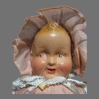 "8"" Composition Freundlich, Baby Sandy in Pink Doll, All Original, 1930's"