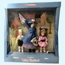 NRFB Horsman Mary Poppins with Michael & Jane, 1964, Sealed!