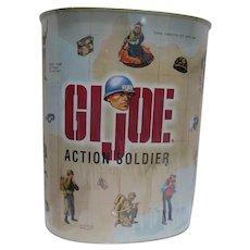 Rare Vintage G.I. Joe Action Soldier Metal Trash Can, Sealed w/Pop Corn Inside, 1997
