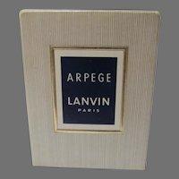 Vintage Lanvin Arpege Parfume Extract, Paris 1 oz. Factory Sealed in Box