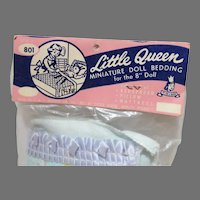 """Old Store Stock Little Queen Doll Bedding Set for 8"""" Doll, 1950's, Sealed in Bag"""