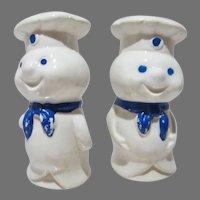 Vintage Pillsbury Dough Boy Ceramic S&P's, 1970's