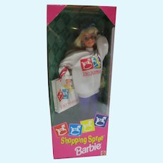 NRFB Mattel Shopping Spree Barbie, 1994, FAO Schwarz