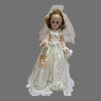 Vintage 1950's 19 inch Bonnie Miss Bride Doll, Allied Grand Doll Company