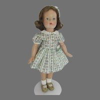 Beautiful Effanbee Composition 21 Inch Anne Shirley Doll, 1940's