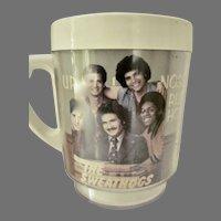Vintage 1976 Welcome Back Kotter/John Travolta/Plastic Mug