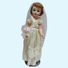 Vintage 20 Inch Fashion Doll Bride, 1950's