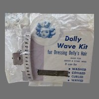 Old Store Stock Dolly Wave Kits for Dressing Dolly's Hair, 1950's