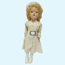 VIntage Miss Curity Nurse Doll, 7 1/2 Inches, 1950's
