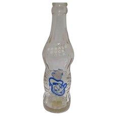 Vintage 1952 Donald Duck 7oz. Cola Soda Pop Bottle, Walt Disney