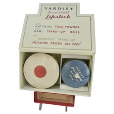 Vintage Yardley Bond Street Lipstick w/Make Up Set, 1940's