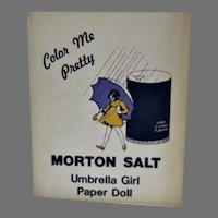 Vintage Morton Salt Umbrella Girl Paper Doll Set, Un-Cut, 1980