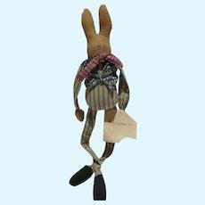 Vintage Overly-Raker Bunkin, Cloth Bunny, 1993