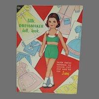 Vintage Little Dressmaker Paper Doll Book, 1966, Mint-Un-Cut