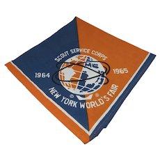 Boy Scout, 1964 N.Y. World's Fair Service Corps Neckerchief, Mint