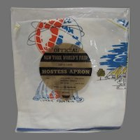 VIntage 1964 New York World's Fair Hostess Apron, Still Sealed!!
