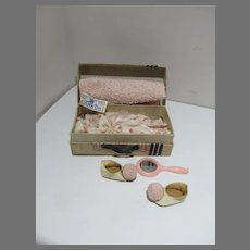 Vintage Vogue Ginny Miniature Suitcase with Accessories, 1954