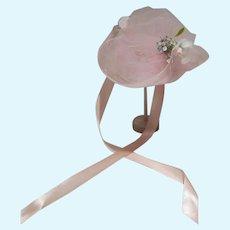 "Vintage Madame Alexander Pink Hat for 21"" Gainsborough Jacqueline Doll, 1978"