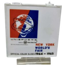Vintage Set of Official Color Slides from 1964-65 New York World's Fair in Case