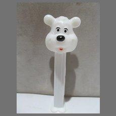 Vintage PEZ Bonbons European Icee Polar Bear w/White Stern, 1997