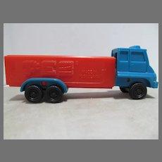 Vintage PEZ Semi Truck, Red & Blue, No Feet, 1990s