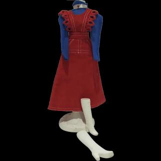 VIntage Mattel Barbie Outfit, O-Boy Corduroy, Complete, 1972