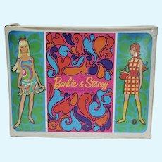Vintage Mattel Barbie & Stacey Double Vinyl Doll Case, 1967
