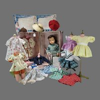 Vintage 1950's Terri Lee Doll w/Trunk, Wardrobe & Accessories