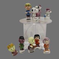 8 Peanuts Mini Porcelain Figures,, 1996, Snoopy, Charlie Brown etc