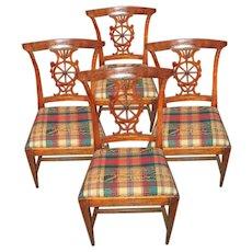 Italian neoclassical slight klismos chairs