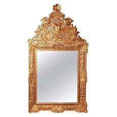 Regence  -  Louis Xv Style Giltwood Mirror