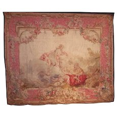 French Louis XV Beauvais Style Tapestry in Rococo Taste