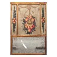 Italian or French Trumeau with Inset Panels of Fruit