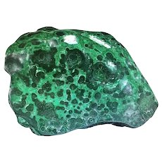 Large Specimen Slab of Malachite Partially Polished