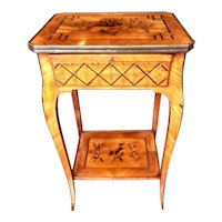 Louis XV Transitional to Louis XVI Style Marquetry Table