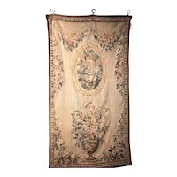 Handwoven Louis XVI Style Floral Tapestry