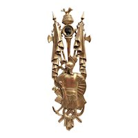 Tall Neoclassical Styled Giltwood Wall Trophy