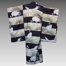 Child's Vintage Silk Kimono. 1970's.