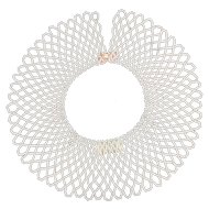 1950's Handmade Pearlized Beaded Collar. Italian.