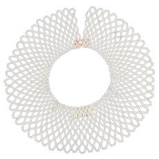 1950's Handmade Pearlized Beaded Collar. Italian.