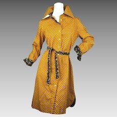 Geoffrey Beene Classic 1970's Shirt Dress.