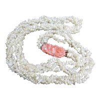 Coral and Freshwater Pearl Torsade. Gorgeous!