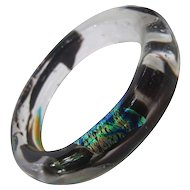 Hand Blown Art Glass Bangle Bracelet. 1990's.
