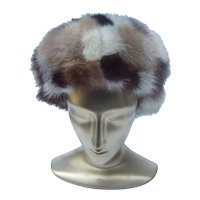 Mink Patch Hat. Saks Fifth Avenue. 1970's.