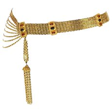 Chanel Maison Gripoix Chain Tassel Belt. High Impact. Gorgeous.