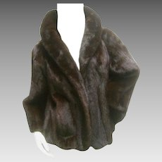 Revillon Paris Ranch Mink Cropped Jacket for Saks Fifth Avenue. 1970's.  Total Luxury!