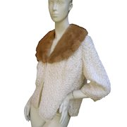 Pretty Mink Ribbon Jacket. 1950's.