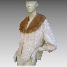 Pretty Mink Ribbon Jacket. 1950's.
