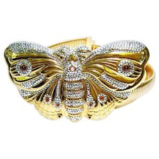 Judith Lieber Jeweled Butterfly Belt. Exquisite. 1980's.