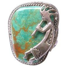 Southwestern Sterling Silver Bracelet. 1970's.